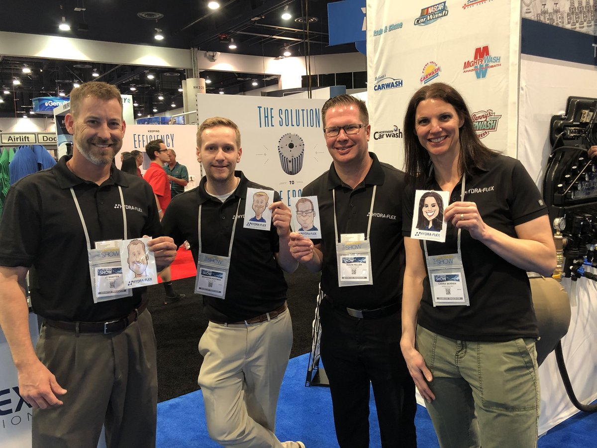 Hydra flex inc hydraflexinc twitter hydra flex booth 813 on day 2 of the carwashorg car wash show get a digital caricature of yourself while you learn about the art of hfis innovation solutioingenieria Image collections