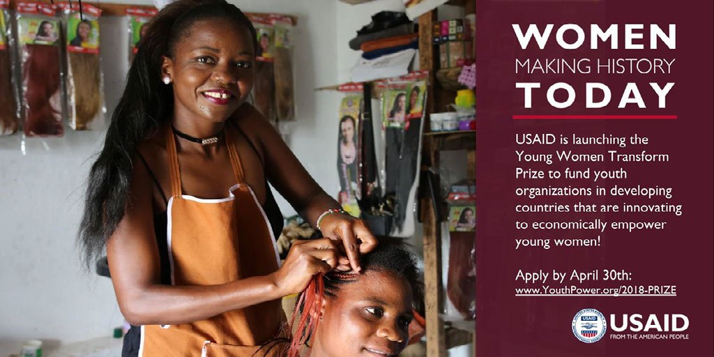 Don't miss out! #YouthWomenTransform Prize will award project grants & mentoring to -led#youth or youth-serving organizations. Apply TODAY:    #https://t.co/dLKZuWaf6bU@VolvoGroupS@StanChartA@YPLearningIDTransforms
