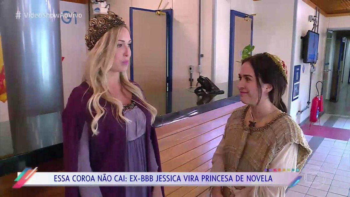 E não é que a Jéssica virou princesa medieval? #VídeoShowAoVivo