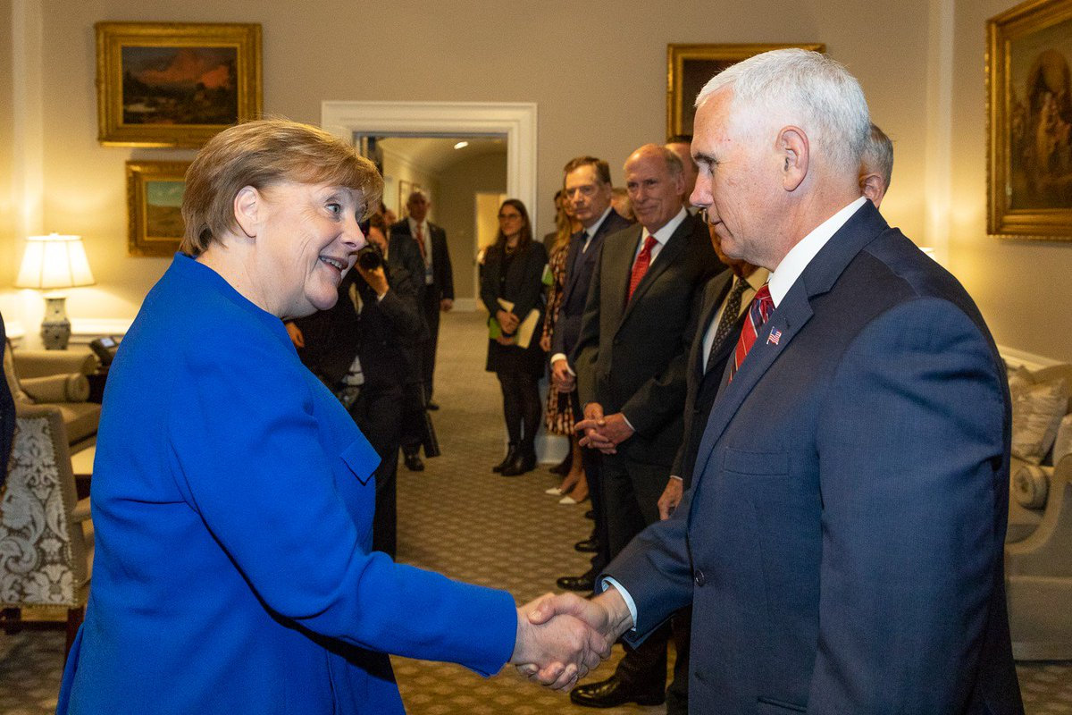 Image result for Pence and Merkel