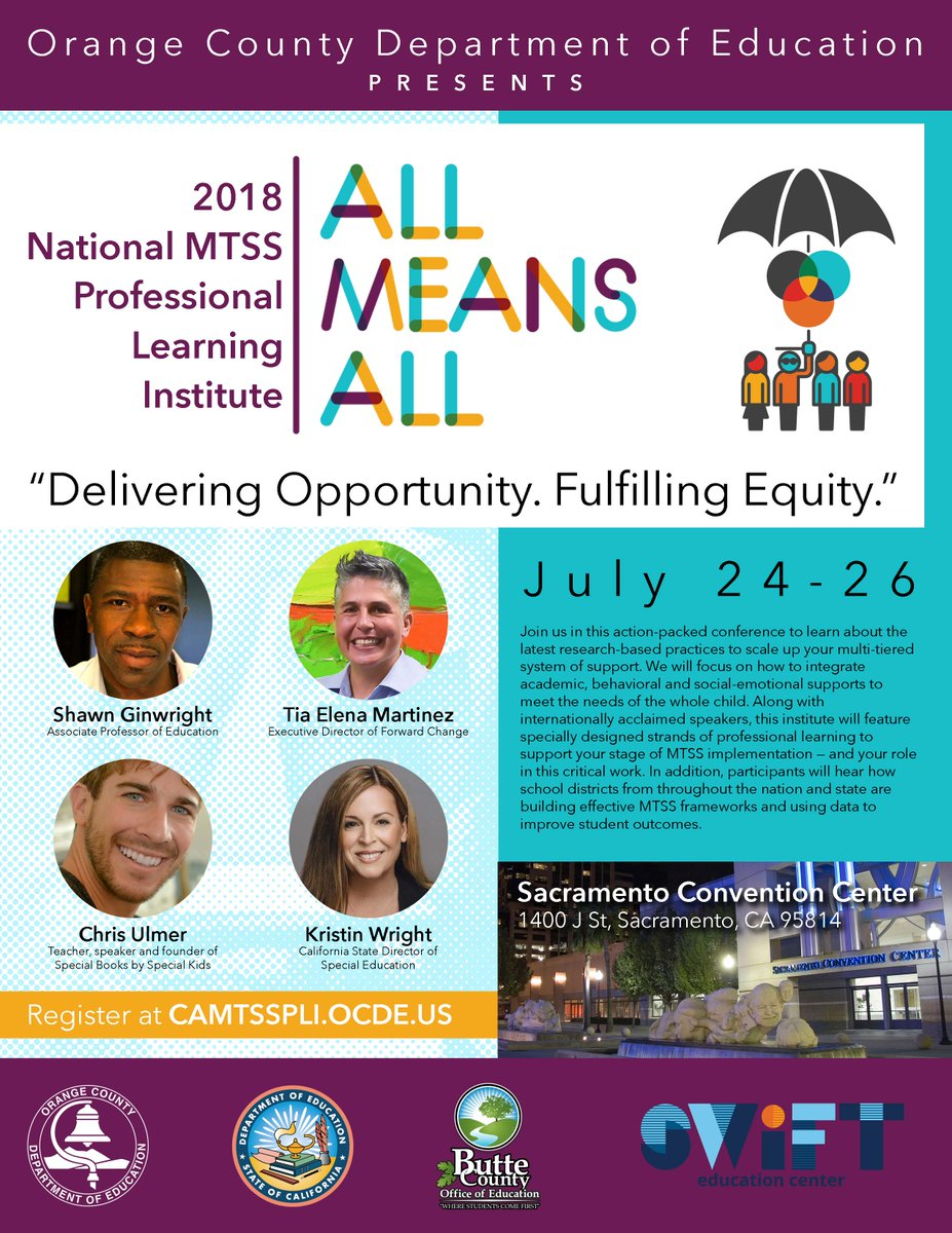 Register for the 2018 National MTSS Professional Learning Institute at camtsspli.ocde.us