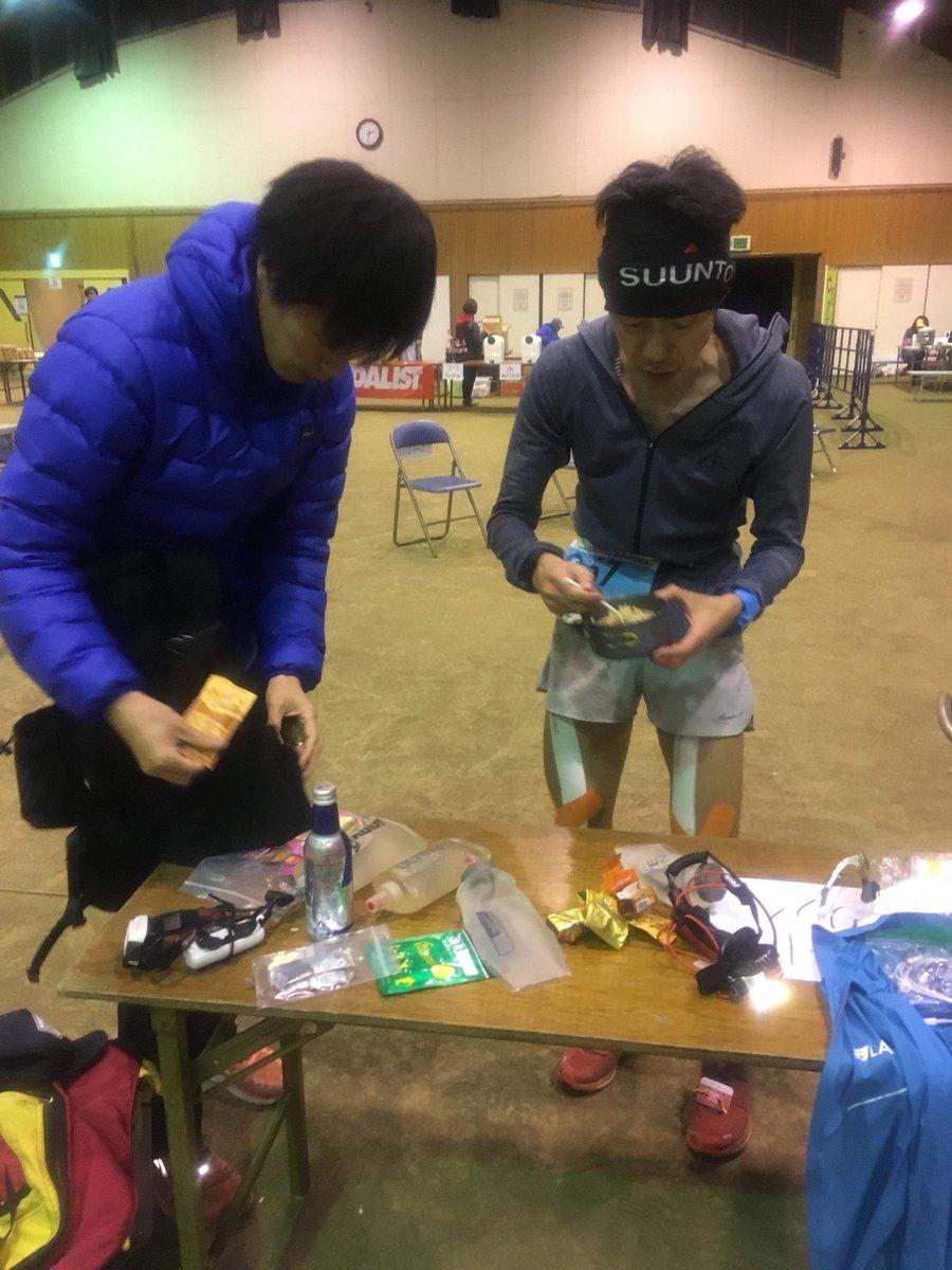 "A5 Katsuyama 94km 15th man is Hiroyasu ""JR"" Tanaka. He is meticulously on his time. Like JR train. #UTMF"