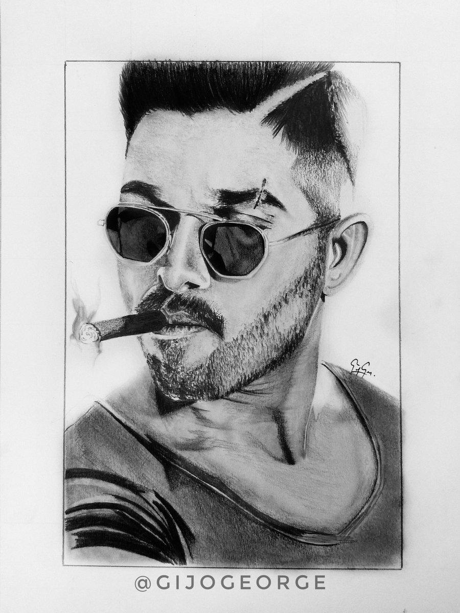Gijo george on twitter pencil drawing of alluarjun pencildrawing