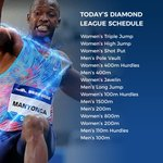 A bumper evening of athletics in store at the #ShanghaiDLHere's what is on the schedule 👀👇#DiamondLeague #RoadToTheFinal