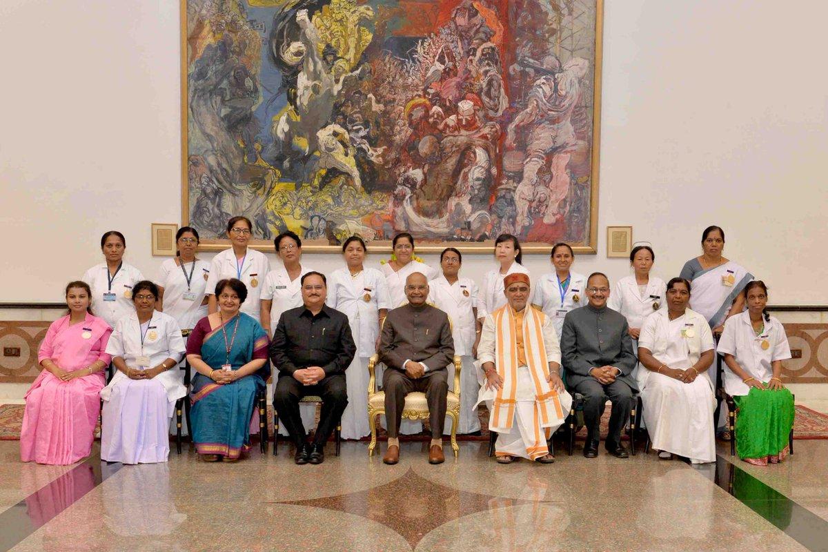 Nursing community plays vital role in keeping India healthy: President Kovind