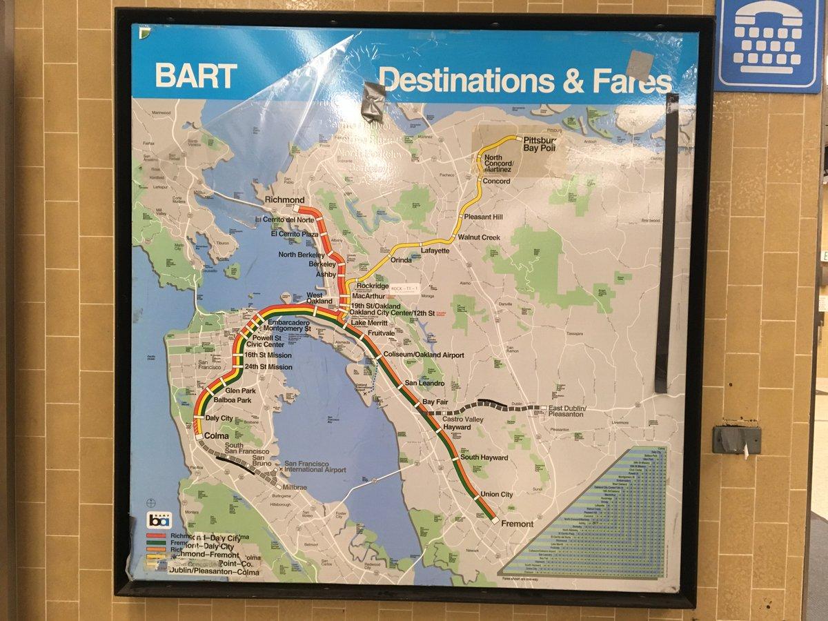Dublin Bart Map on