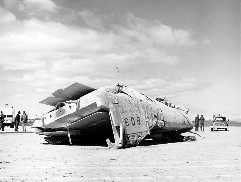 Lifting Body Crash Landed On Rogers Dry Lake At Edwardsafb Footage Of The Crash Was Used In The Opening Sequence For The Six Million Dollar Man Tv