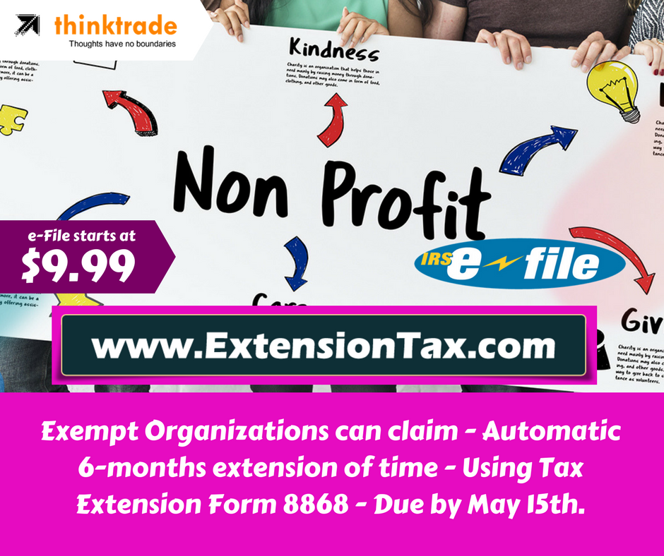Federal Income Tax Extension Return Online $9.99, ThinkTrade, Inc. | IRS  Authorized EFile Provider And Www.TaxExcise.com | EFile Fed. Excise Tax  Returns