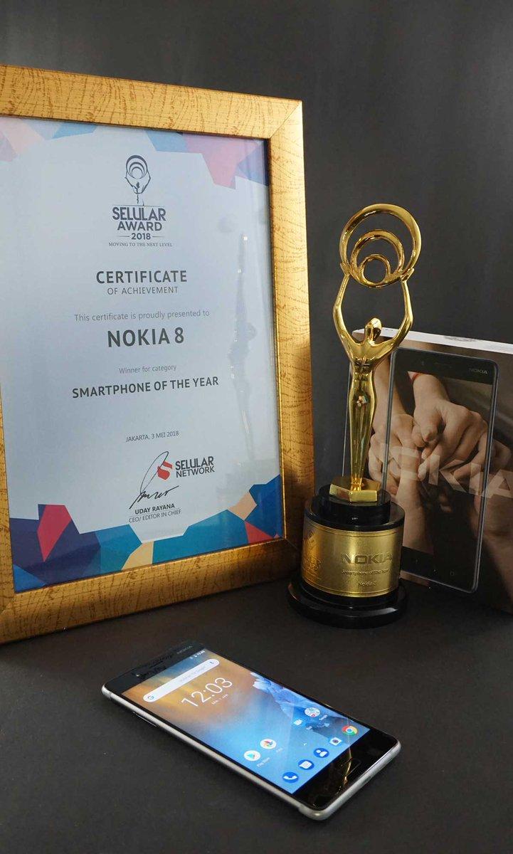 Kesuksesan Nokia 8 dan Nokia 6Meraih Penghargaan di Selular Award 2018 2
