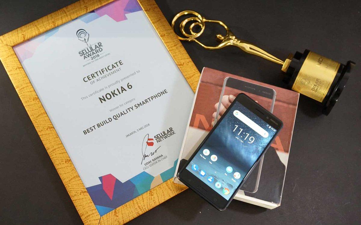 Kesuksesan Nokia 8 dan Nokia 6Meraih Penghargaan di Selular Award 2018 1