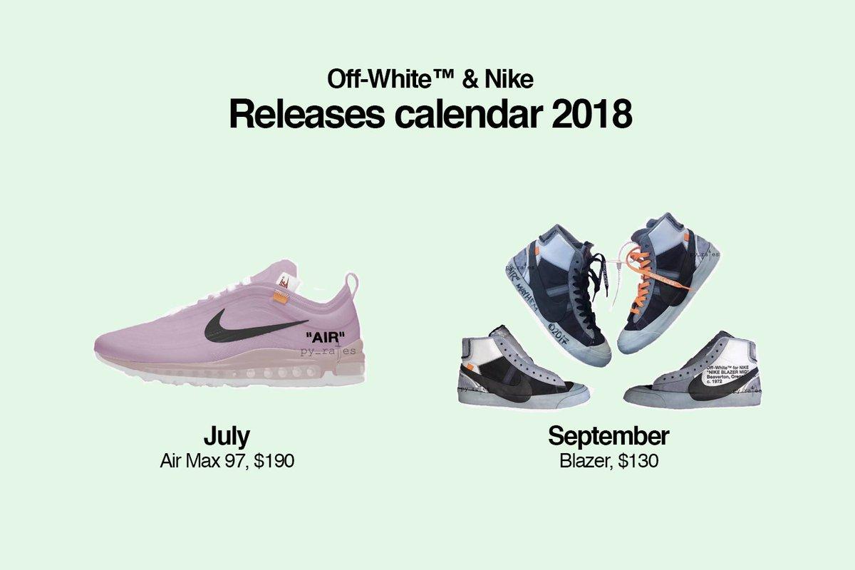 Shoe Release Calendar.Off White Drops On Twitter Off White Nike Releases Calendar