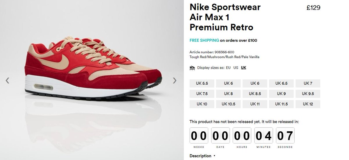 Early launch of these Air Max 1s at SNS ! Red Curry   http   bit.ly 2I6nmms  Green Curry   http   bit.ly 2KQY3CI pic.twitter.com 6aJ0NwpJ9e fe854282e