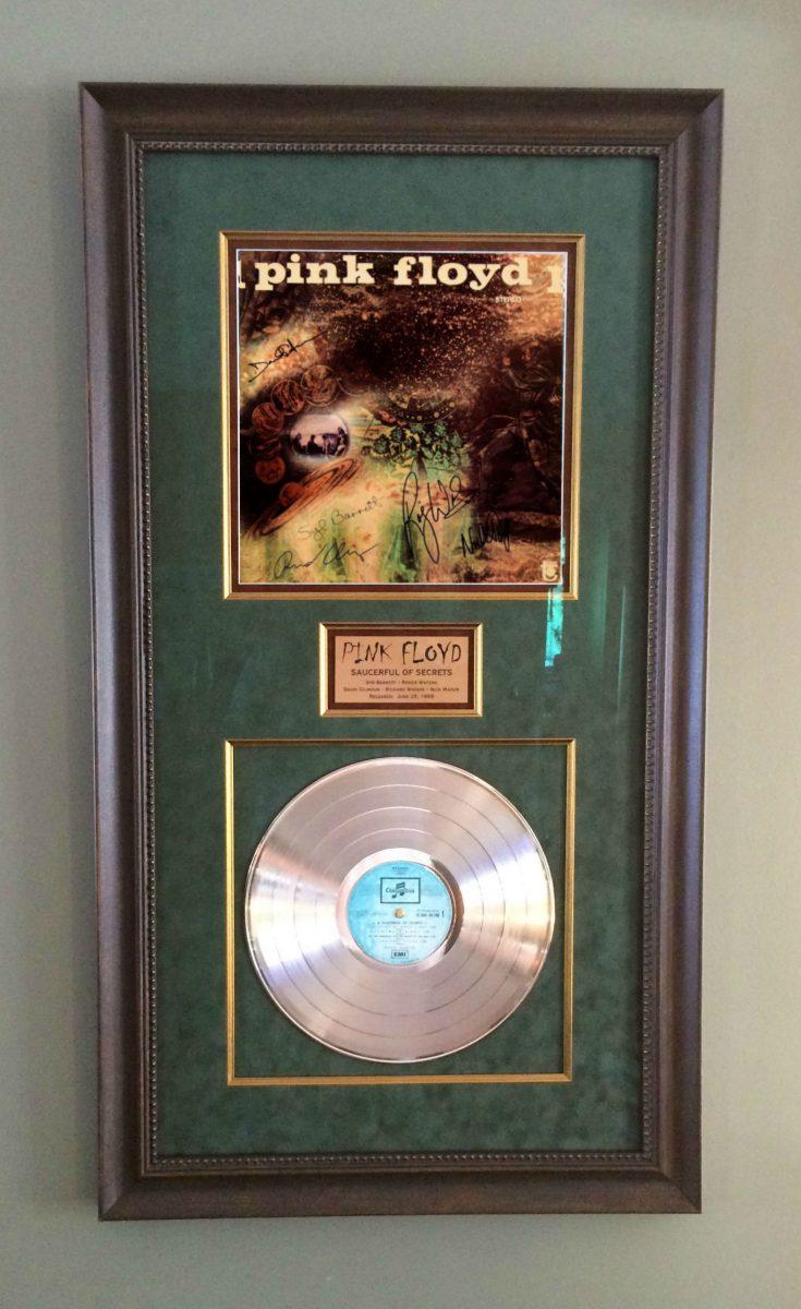 David Gilmour Richard Wright Nick Mason Syd Barrett Rockstargallery Framed Signed Album Pink Floyd Saucerful Secrets