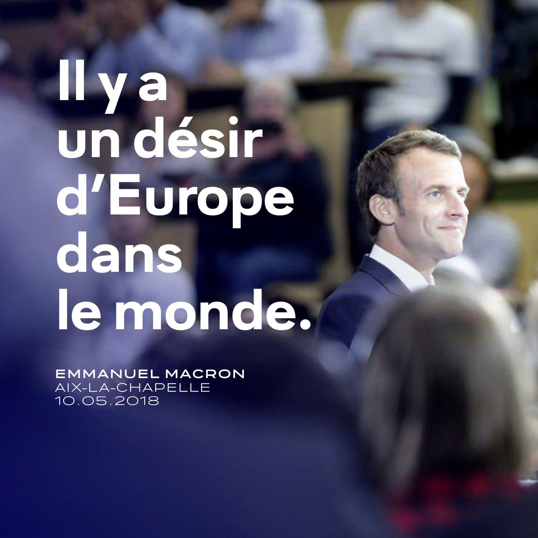 L'Europe regarde trop ses petites différences et oublie son rôle et son unité. #Karlspreis https://t.co/60yTGP7Wh1