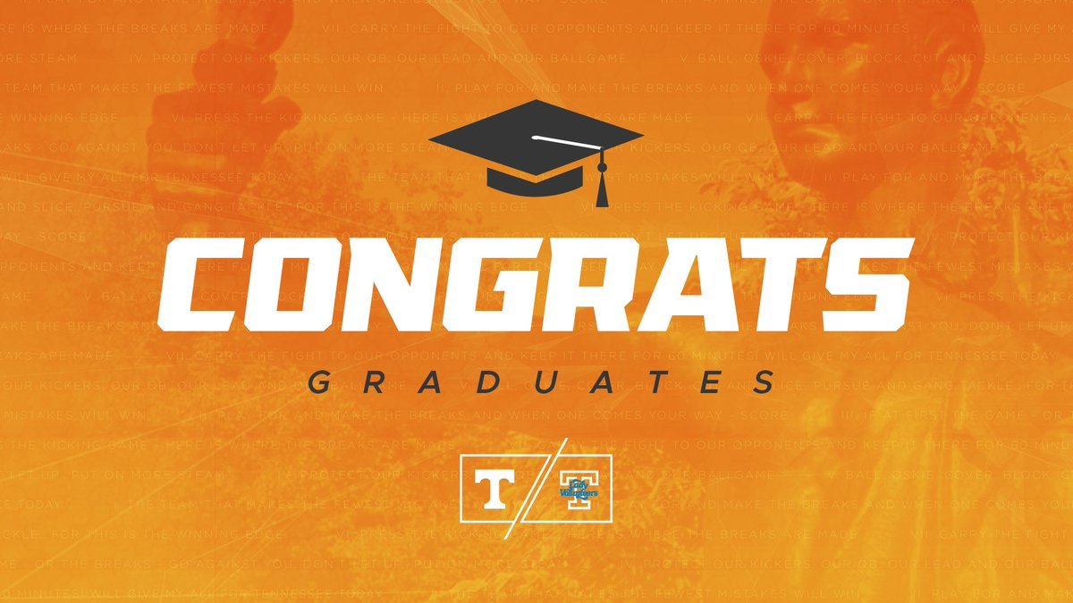 What it's all about. 🎓  Congratulations to all the #Vols and #LadyVols graduating this week!  #UTgrad2018 🍊 #GBO