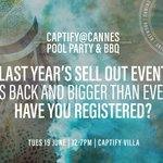 Get ready for our biggest Cannes Pool Party to date. Request an invite at cannes@captify.co.uk. Check it out here https://t.co/cAQHJzFLNS #CannesLions #cannes #CannesLions