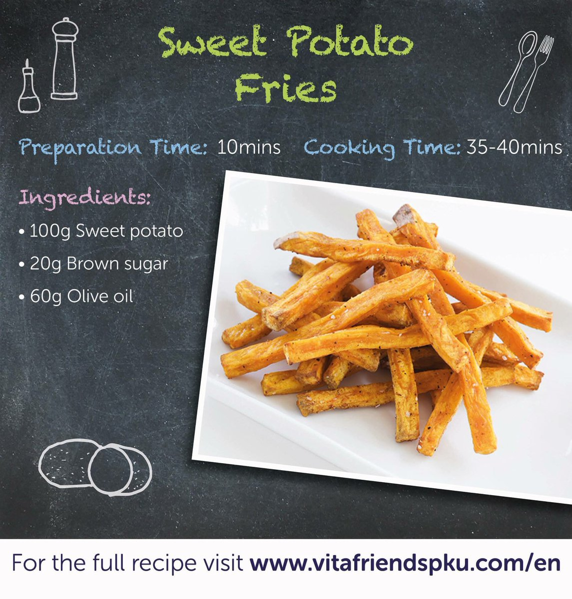 What&#39;s the best part of a Chippy Fakeaway? Chips of course! Check out this delicious Sweet Potato Fries recipe and watch this space over the next few days for low protein sauces and dips for ultimate dunking success!  https://www. vitafriendspku.com/en/recipes/swe et-potato-fries/ &nbsp; …  #pku #pkurecipes #FakeawayMay<br>http://pic.twitter.com/pVHCc4e1FL