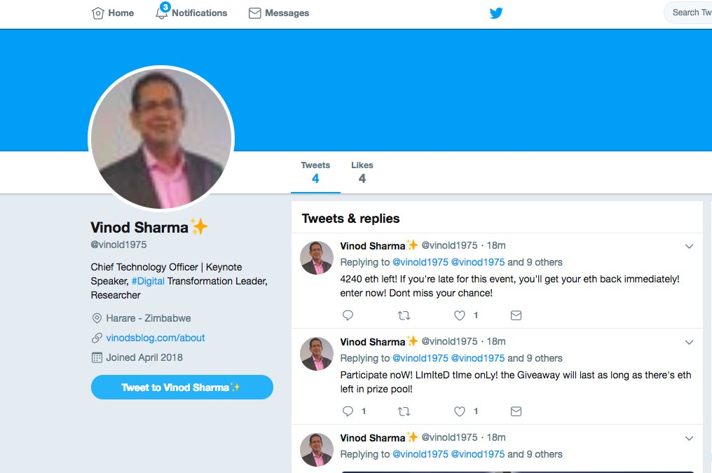 Please note the #profile in below is a fake one with &quot;L&quot; in profile name. #FakeProfile . I have no Idea what they want and what they will gain. I am just a small person who is doing small work in #AI, #ML, #DataScience and #FinTech space. #InfoSecurity #CyberSecurity #InfoSec<br>http://pic.twitter.com/mmTZqLC4H5