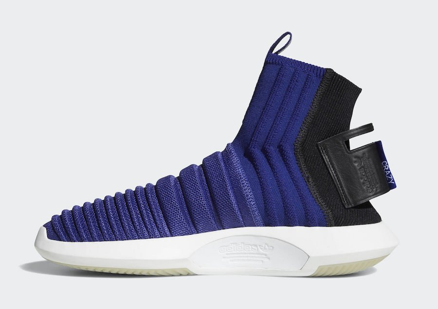 wholesale dealer fe18d 83957 ... adidas crazy 1 adv sock primeknit real purple code cq1011 release date  may 15 2018 140