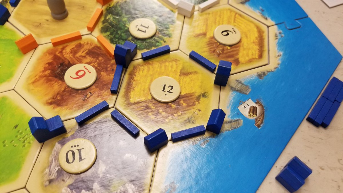 One student is really banking on that 12 being rolled.  #catan