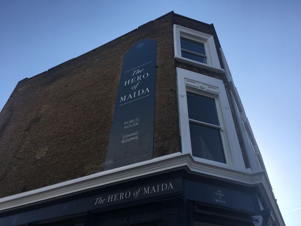 The Hero Of Maida Delighted To See Alongside Some Wonderful Company On Telegraphs List Londons Best New Bar And