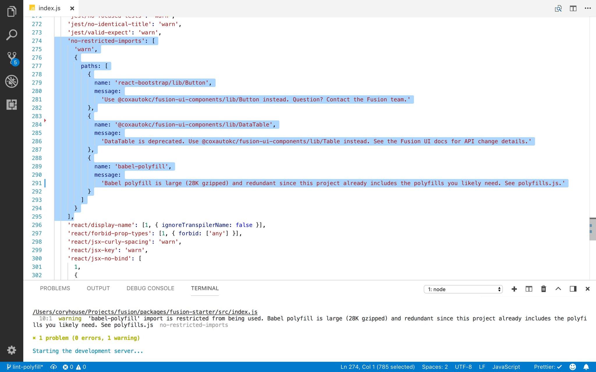 "a5e62696a78bf Uživatel Cory House 🏠 na Twitteru: ""ESLint tip: Restrict imports to ..."