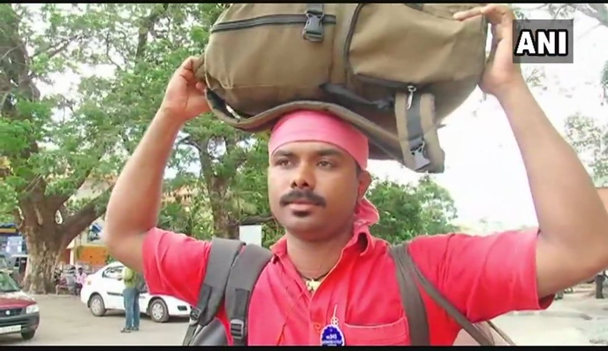 Sreenath K, a coolie at Ernakulum junction in #Kerala's Kochi, qualified for Kerala Public Service Commission (KPSC) with help of free WiFi at Railway station. Sreenath says, 'I downloaded free question papers of KPSC & saw videos to prepare for it. Google, WiFi changed my life'.