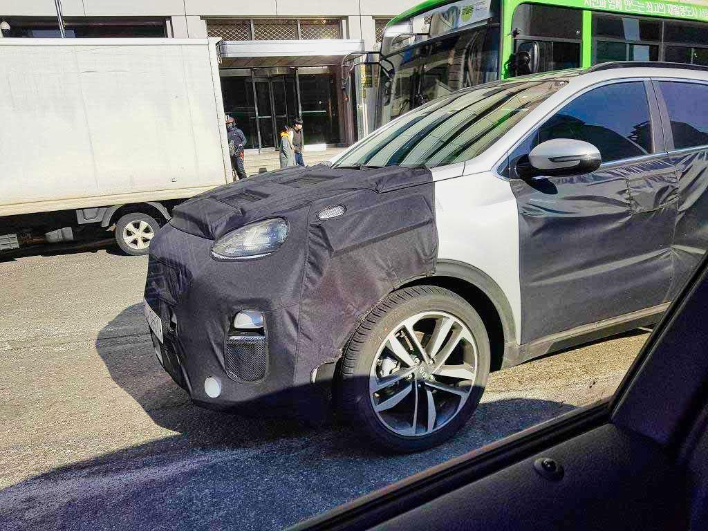 International News 2019 Kia Sportage Facelift Spied On South Korean Roads Again Kiasportage2019 Indianautos