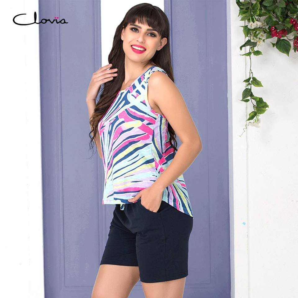 df227cd50 A short(s) affair! Shorts and top nightsuits in stylish prints and designs  for your beauty sleep. Shop nightsuits starting Rs.699.