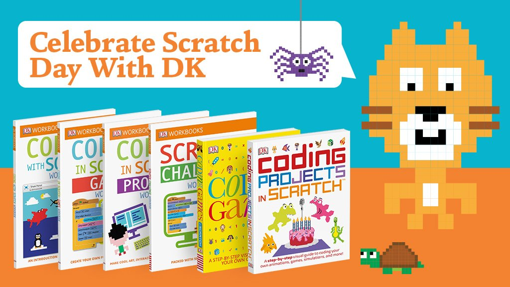Get with the programming and celebrate #ScratchDay 2018 with DK. bit.ly/2IoEMKD