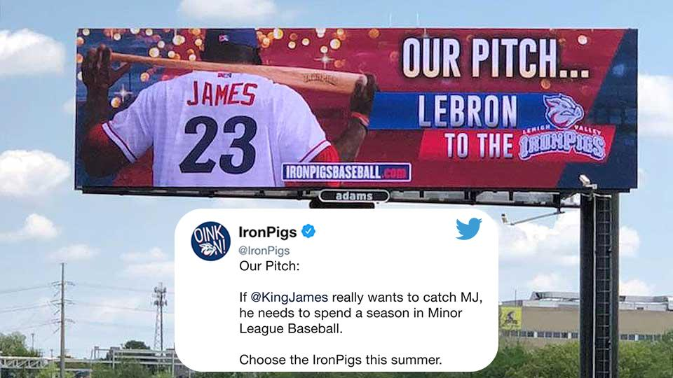 Add the @IronPigs to the list of teams hoping to recruit @KingJames this summer. �� https://t.co/IrrKHSAGHi
