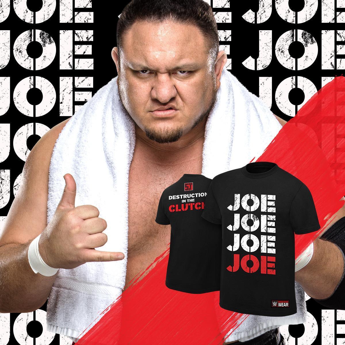 Joe! All-new #SamoaJoe tee now available at #WWEShop. #WWE bit.ly/2jKXcaf