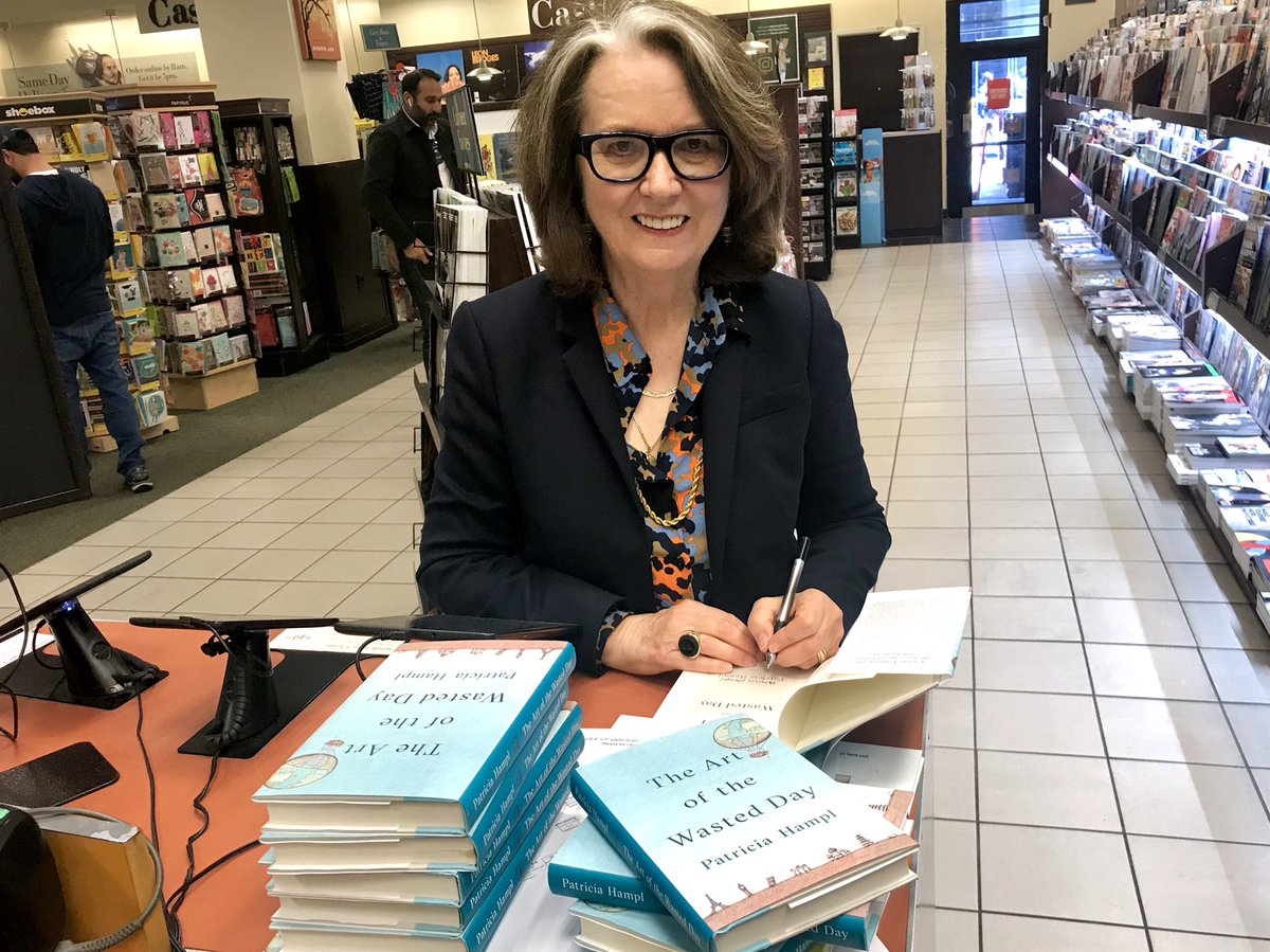 We are star-struck!   Genius of the personal essay, memoirist, poet & all around brilliant writer, #PatriciaHampl stopped by and #signed copies of her new book #TheArtOfTheWastedDay.  This literary travelogue is a #mustread. Swing by & check it out!pic.twitter.com/Qmv0DnBqLC