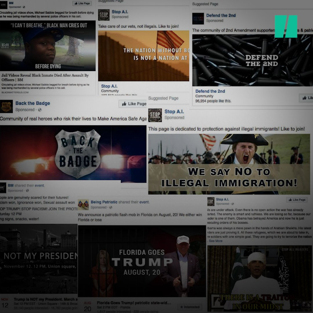 These are the Facebook ads that Russia used to try and destabilize the 2016 election. https://t.co/b3iPFeTjL6