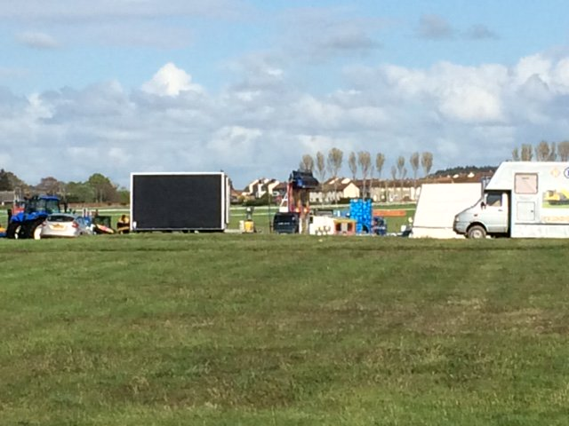 Set up has started for @ayrcountyshow we hope to see you there on Saturday!