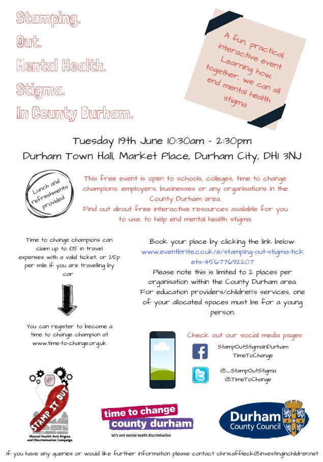 Stampoutstigma On Twitter Check Out The Poster For Info On A Fun
