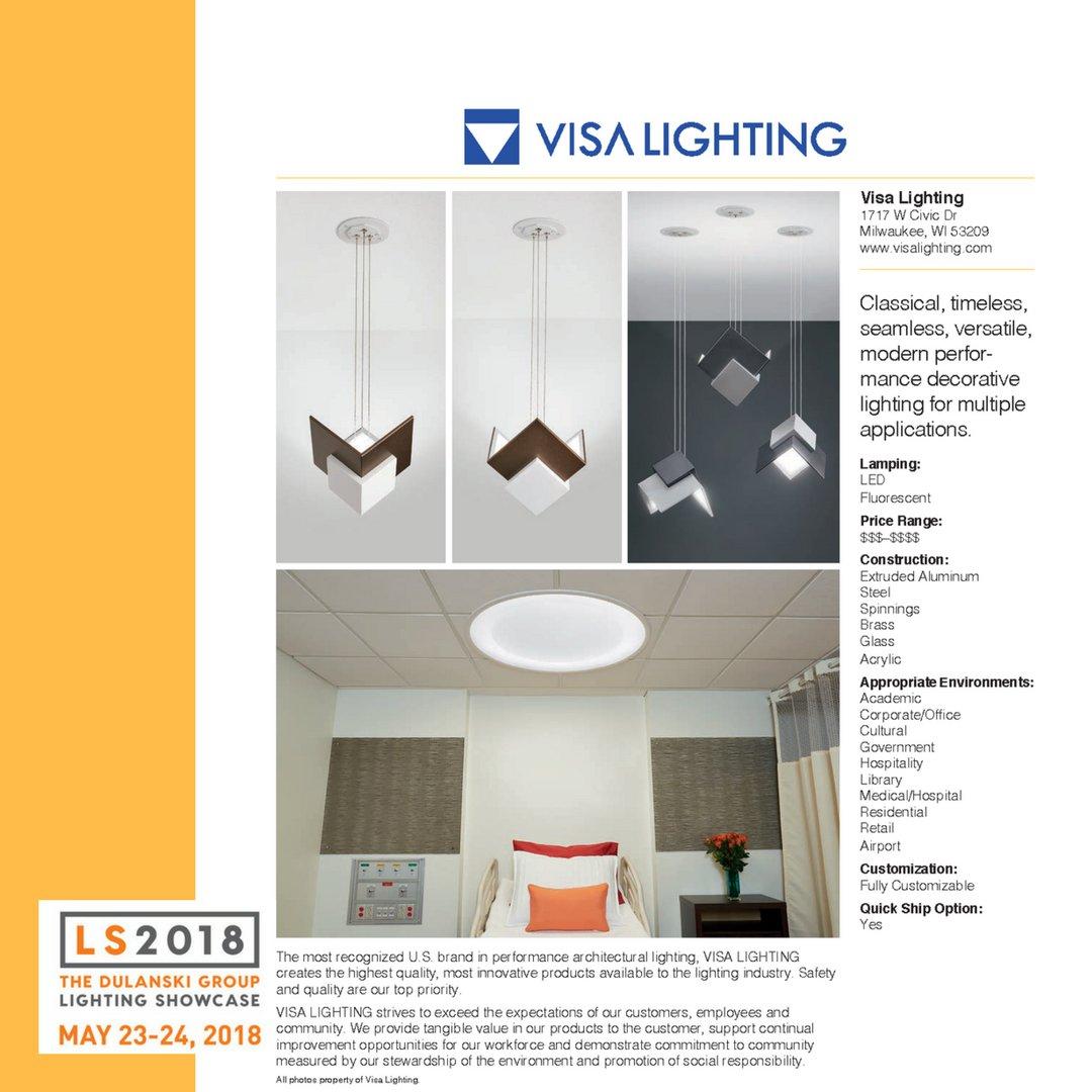 Dulanski Group Light Show #LS2018 Exhibitor - Visa Lighting - Classical timeless seamless versatile modern performance decorative lighting for multiple ...  sc 1 st  Twitter & The Dulanski Group on Twitter: