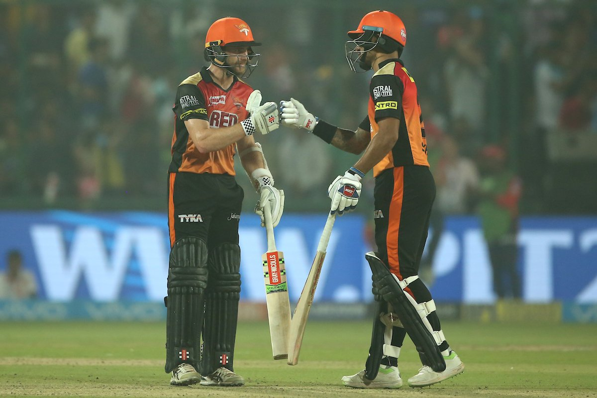 #DDvSRH - Dhawan and Williamson eclipse Pant Heroics, as Sunrisers make merry!