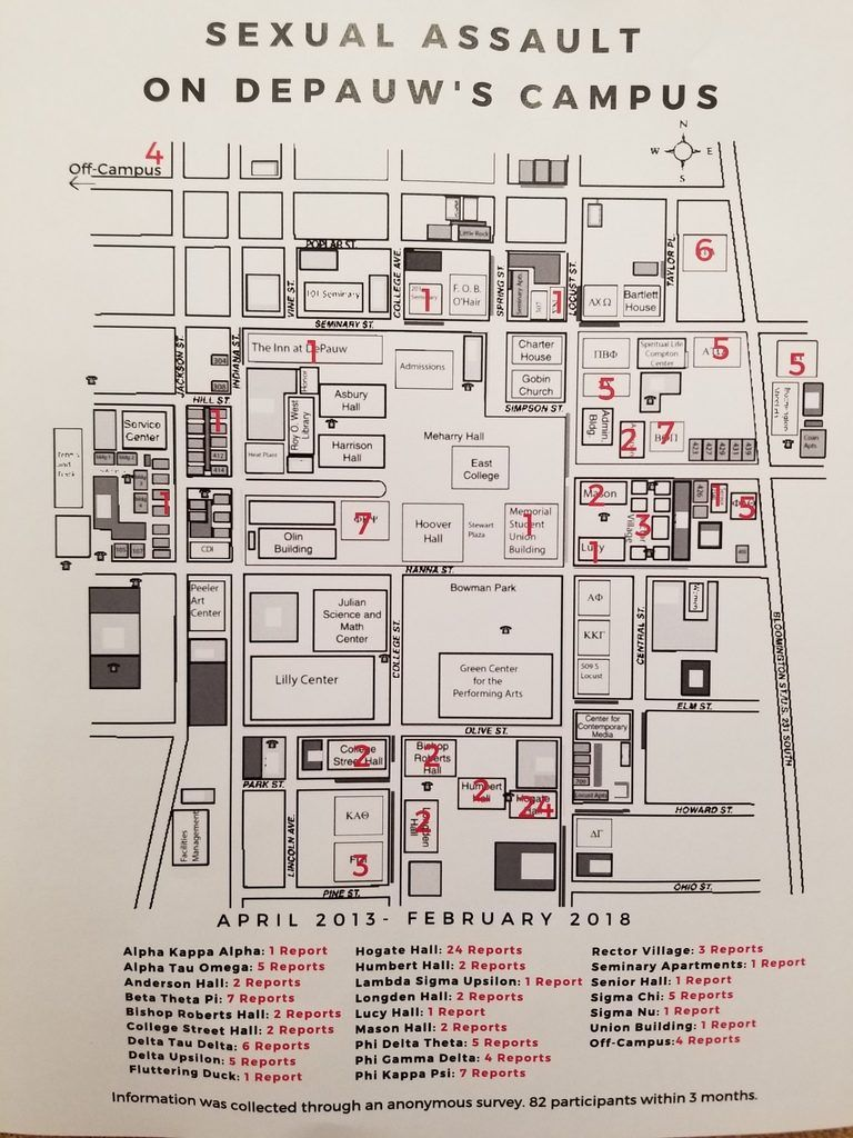 The Depauw On Twitter Map Shows 95 Alleged Sexual Assaults On