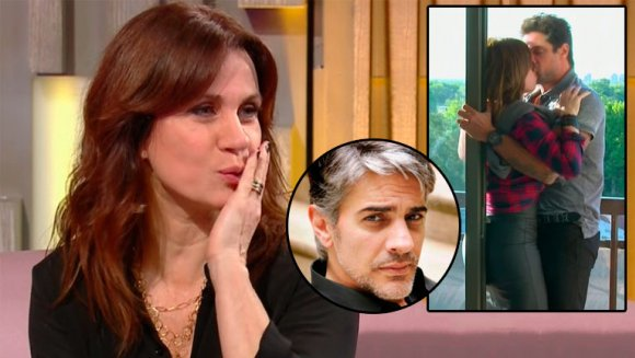 Resultado de imagen para Nancy Dupláa y la reacción de Pablo Echarri ante sus escenas de ¡besazos! con Luciano Castro