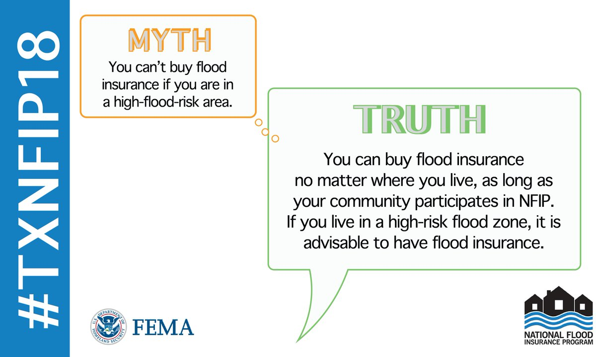 Ten Common Learning Myths That Might Be >> Fema Region 6 On Twitter Myth You Can T Buy Flood Insurance If