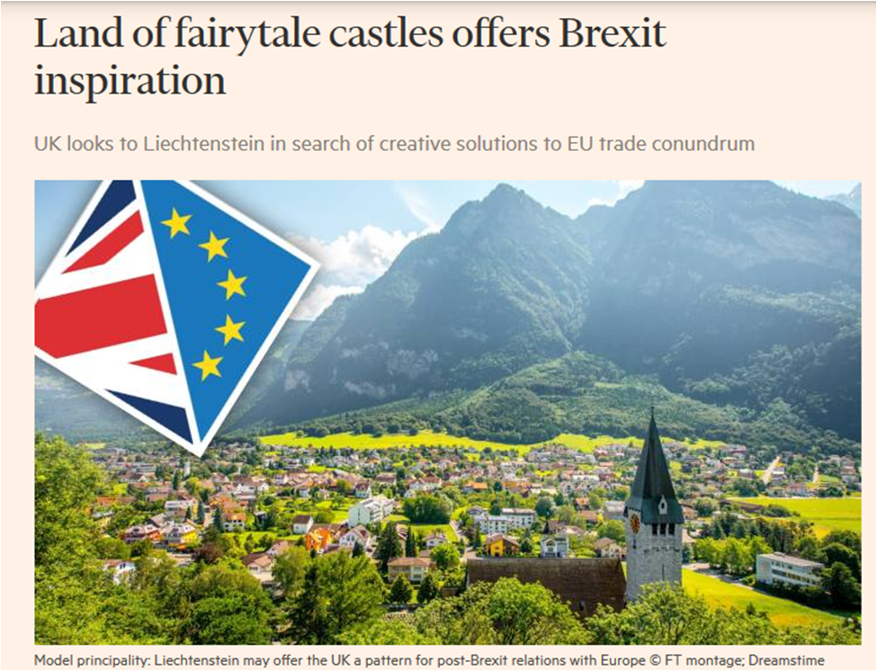 When one of the strongest economies in the world with a permanent seat at the UN security council considers modelling its future status on Liechtenstein, Albania, Mauritania and Melilla you know that something is going slightly wrong... #Brexit #FBPE