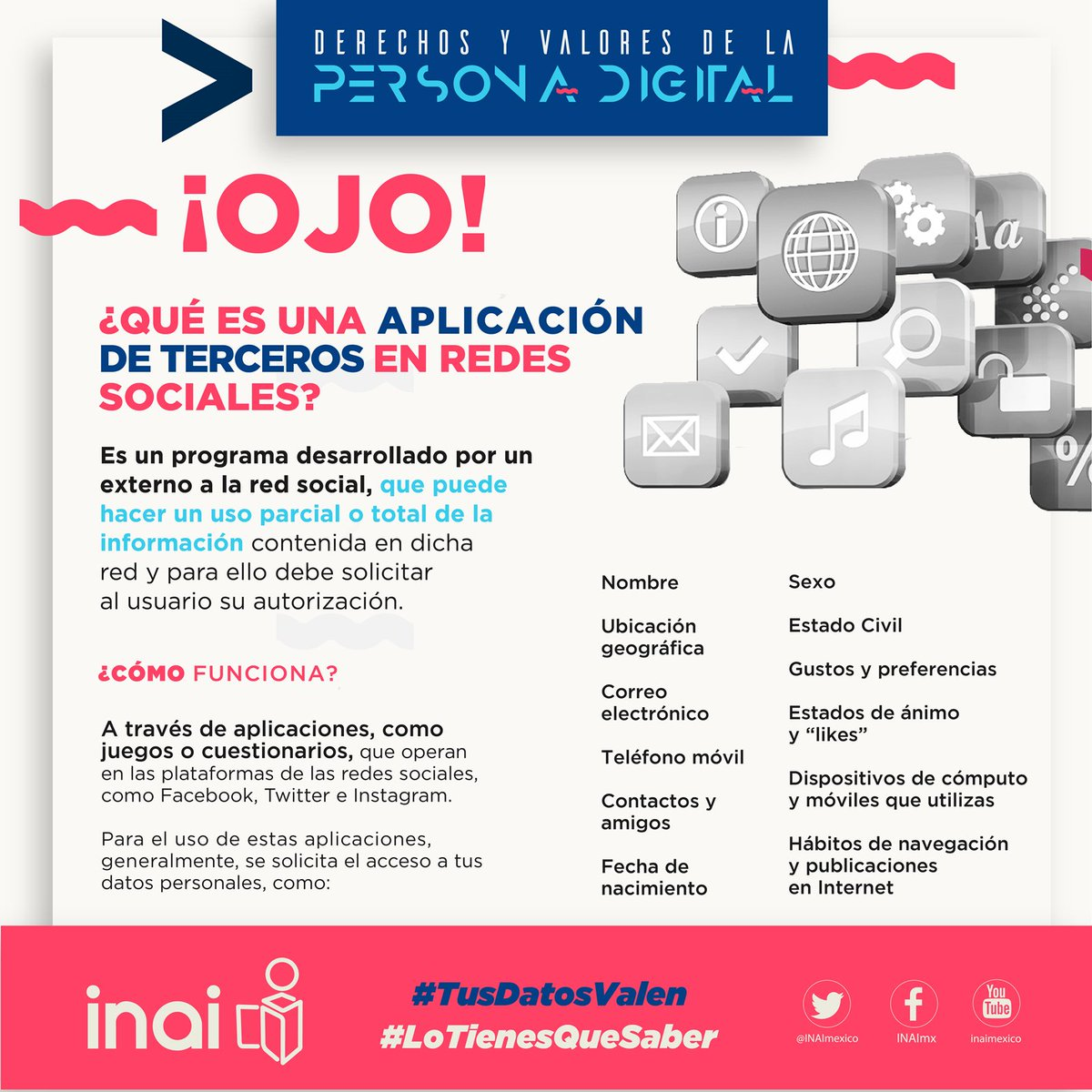 Inai On Twitter Lotienesquesaber Sabes Cuantos Datos Puedes Dar