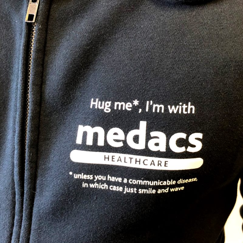 INTERNATIONAL NURSES DAY | Saturday, 12th May 2018 To celebrate, we have created the Medacs Hoodie!! 10 lucky recipients have received one of these to say a special thanks for their dedication, passion & hard work! THANK YOU! #huganurse #medacslife pic.twitter.com/ioR9f0vK1A