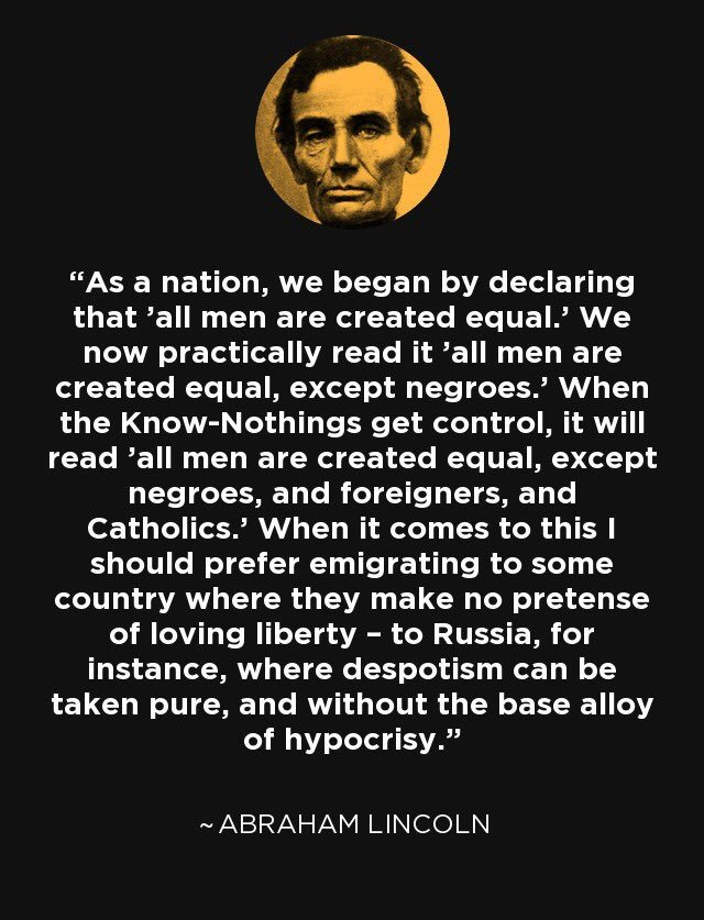 Abraham Lincoln was woke all the way back in 1855.