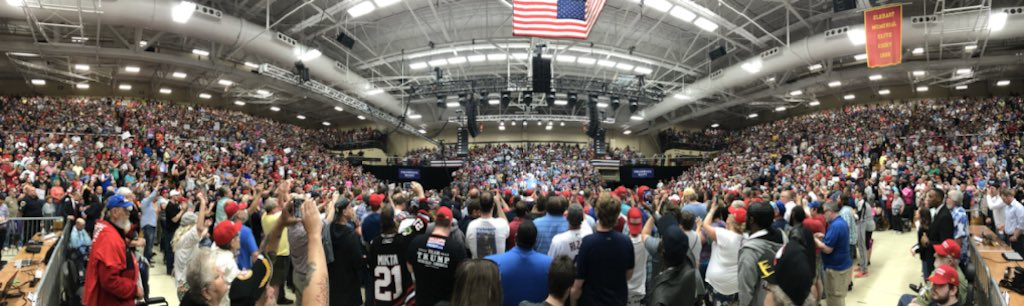 Thank you Elkhart!  Such a large and enthusiastic crowd of Hoosiers to hear President @realDonaldTrump.