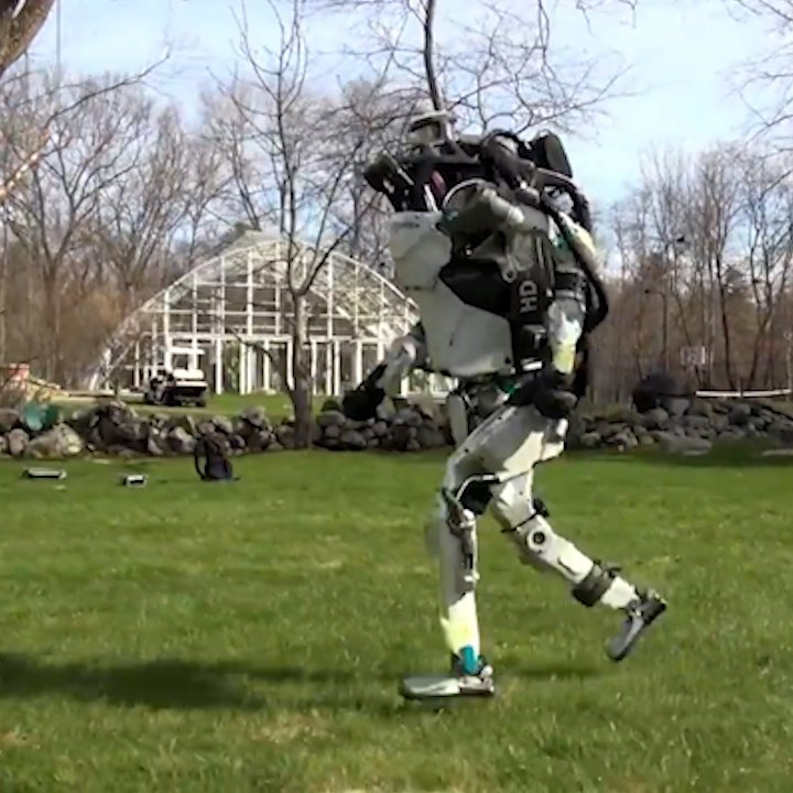 Boston Dynamics' robots can now go for a jog outside and avoid obstacles.