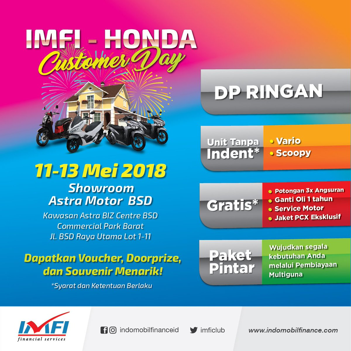 Indomobil Finance On Twitter Promo Kredit Motor Honda Di Imfi