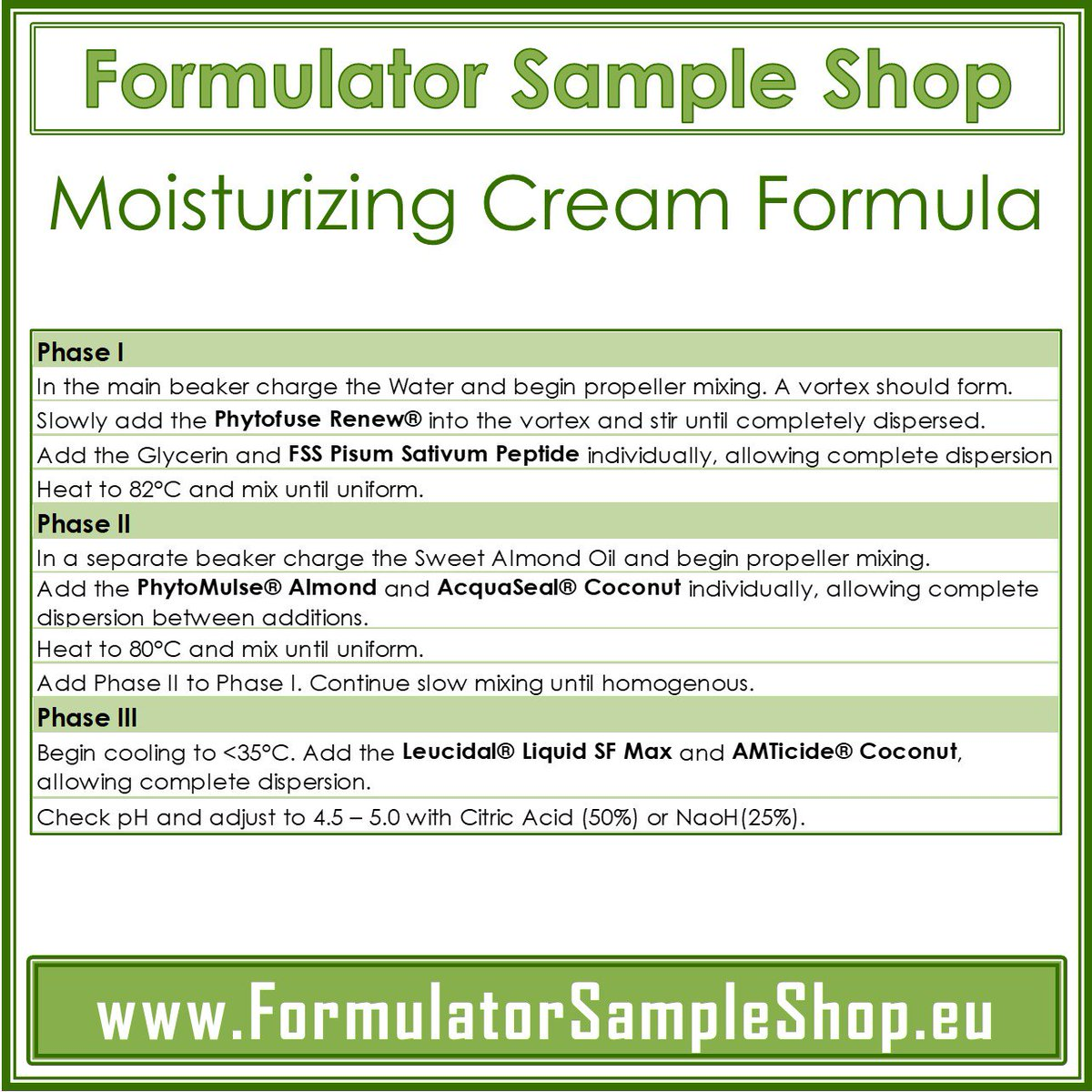 Formulator Sample Shop Europe on Twitter:
