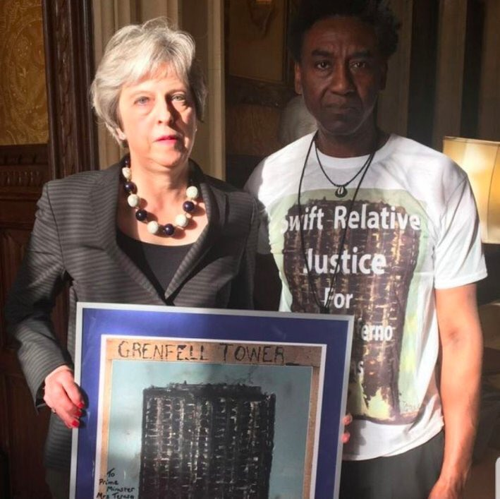 A picture speaks a thousand words. Justice for Grenfell. https://t.co/GbqXgqx8No